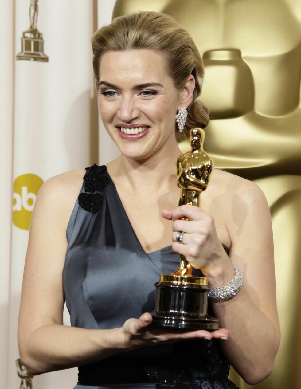 <strong>PRISBELØNT:</strong> Kate Winslet har hatt suksess som en kritikerrost filmskuespiller både før og etter «Titanic», men det var først etter rollen som Rose hun ble superstjerne. I 2009 vant hun Oscar for «The Reader». Foto: AP