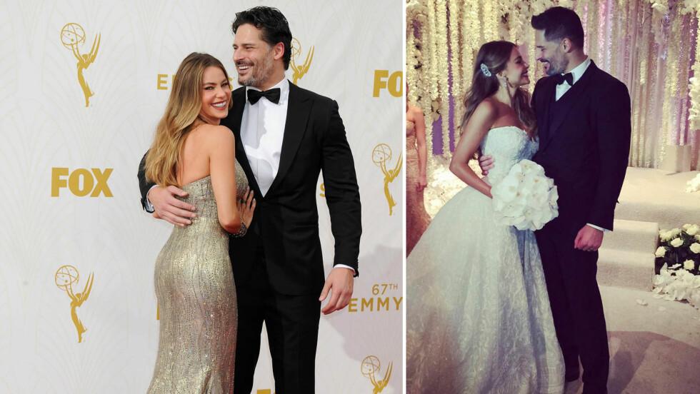 DRØMMEPAR: Søndag 22. november ble Sofia Vergara og Joe Manganiello gift. Etter det ekstravagante bryllupet har «Modern Family»-stjernen delt flere private bilder fra den store dagen på Instagram.  Foto: Splash News/ Instagram