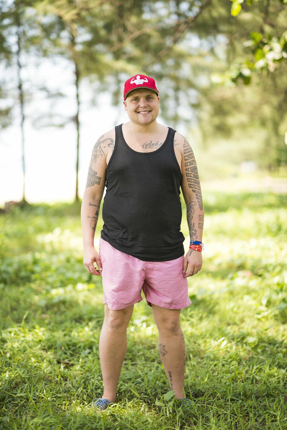 I EN ANNEN BOBLE: I 2013 deltok Stian Thorbjørnsen i «Robinsonekspedisjonen» på TV3. Under oppholdet gikk han ned en god del kilo, men den gang kom de raskt tilbake etter hjemreisen.  Foto: TV3