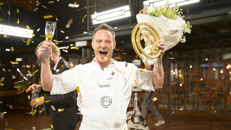 FULL JUBEL: Jubelen stod i taket da det ble klart at artisten Heine Totland vant årets runde med MasterChef. Foto: TV3