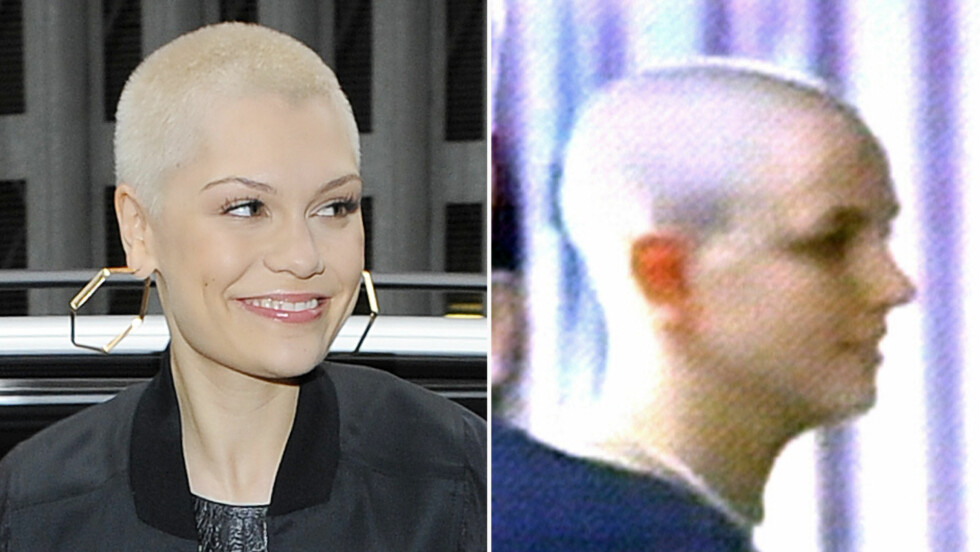 KLIPPET AV ALT HÅRET: Kort tid etter at håret hadde vokst ut, valgte Jessie J igjen å klippe av de lange lokkene. Her er hun etter første korte klipp i 2013. Popstjernen Britney Spears gjorde det samme under sitt berømte sammenbrudd i 2007.  Foto: NTB Scanpix