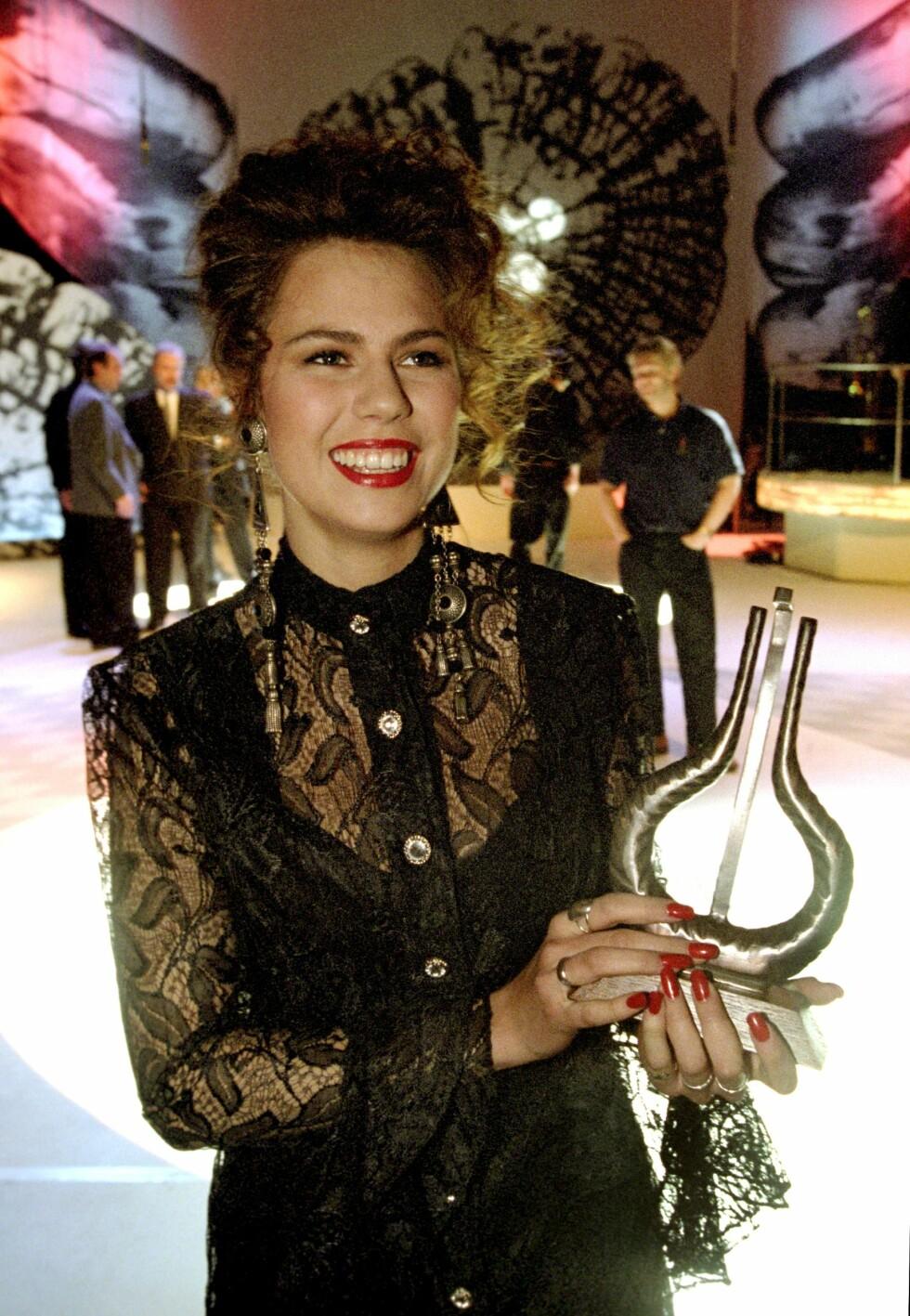 PRISVINNER: I 1994 vant Trine prisen for årets nykommer under Spellemannsprisen. Foto: NTB Scanpix
