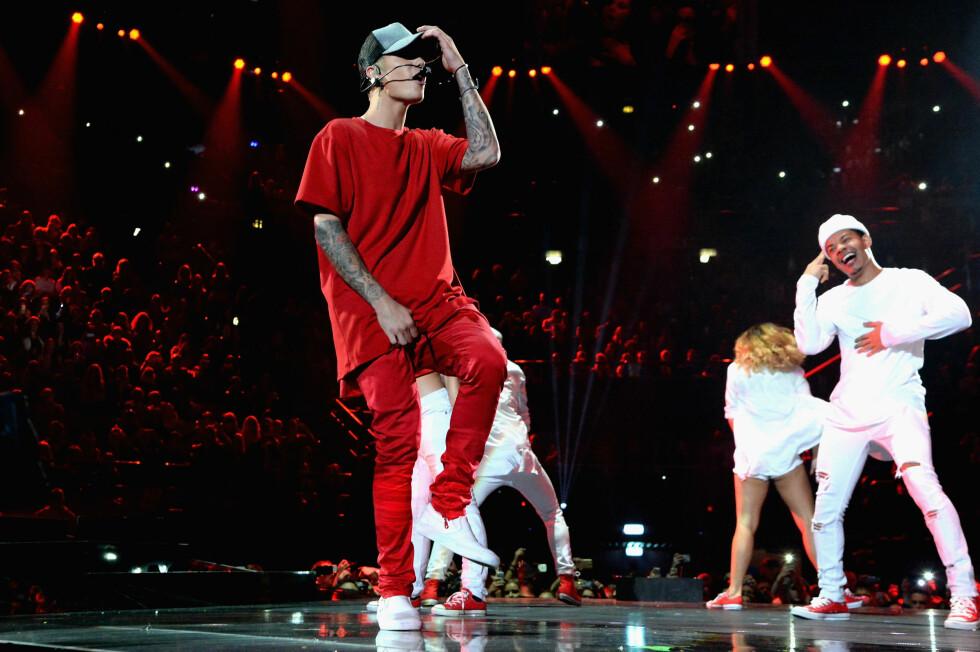 <strong>SHOW:</strong> Før showstart fortalte Bieber til MTV sin reporter at han gledet seg spesielt mye til nettopp denne opptredenen. Foto: FilmMagic