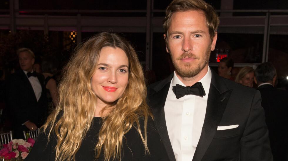 <strong>LYKKELIG GIFT:</strong> Drew Barrymore og Will Kopelman traff hverandre i 2011. Året etter giftet de seg, og nå er de tobarnsforeldre.  Foto: SipaUSA