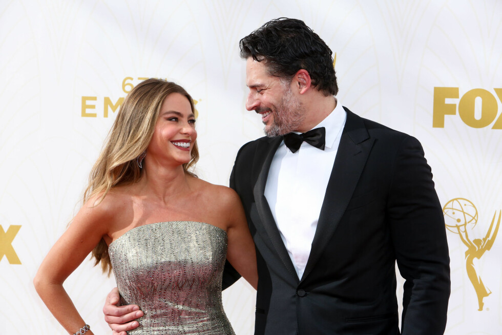 STORMFORELSKET: Det er ingen tvil om at Sofía Vergara og Joe Manganiello gleder seg til november-bryllupet.  Foto: NTB scanpix