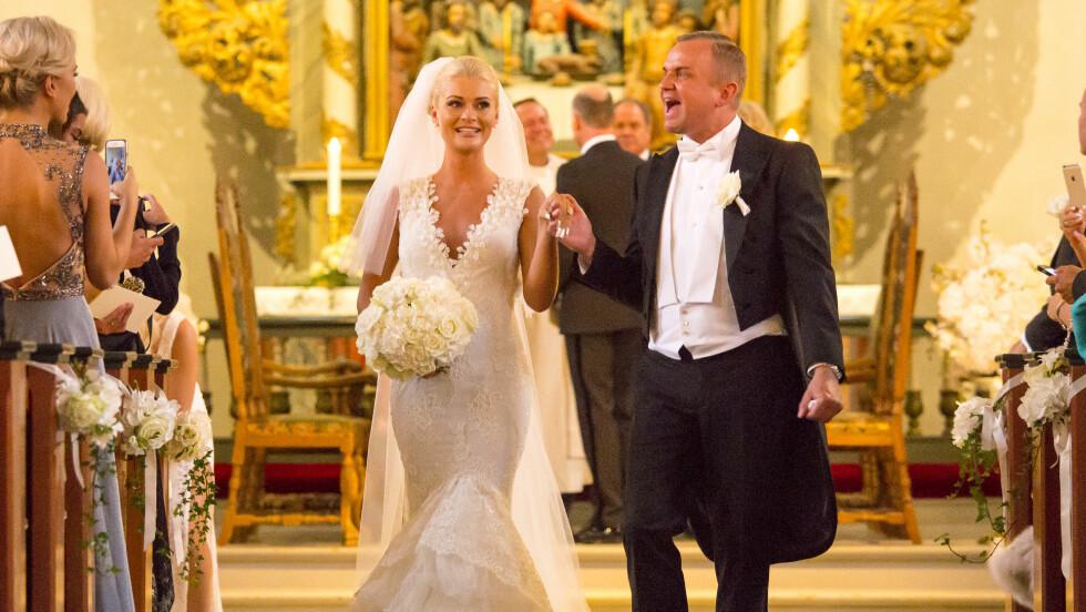 EKSTRAVAGANT DAG: Da finanskjendis og Europris-arving Dag Høili giftet seg med sin Kristine Saltvold, ble det ikke spart på noe. På bryllupsdagen overrakte Høili kona en svært kostbar diamantring (innfelt). Foto: Tor Lindseth
