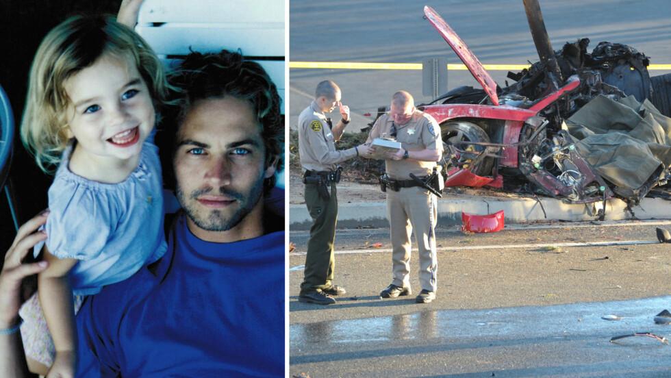 GRUFULL ULYKKE: I november 2013 mistet Meadow Walker faren sin, filmstjernen Paul Walker (t.v), i en stygg bilulykke. Nå saksøker 16-åringens avdokater Porsche for dødsfallet, som ifølge søksmålet kunne vært unngått.  Foto: Skjermdump fra Instagram/ NTB Scanpix