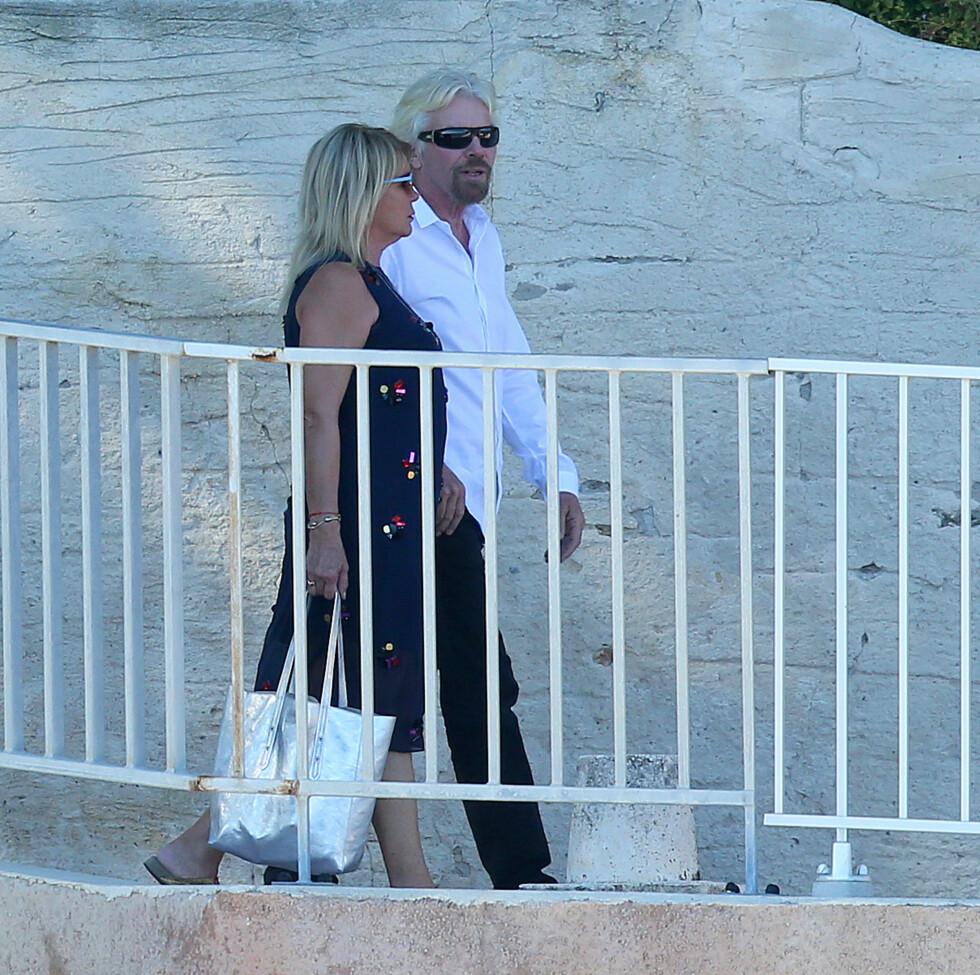 BERØMTE GJESTER: Sir Richard Branson var blant gjestene lørdag.  Foto: Splash News