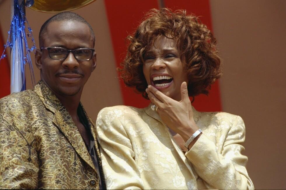 <strong>TURBULENT EKTESKAP:</strong> Whitney Houston og Bobby Brown var gift fra 1992 til 2007. Paret, som fikk Bobbi Kristina sammen, slet begge med tunge rusproblemer. Her er de to sammen i 1997.  Foto: wenn.com