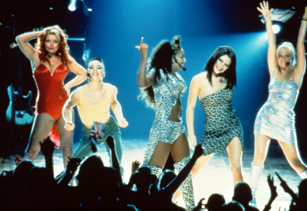 "POPULÆRE: Spice Girls tok verden med storm i 1996 med låten ""Wannabe"". Foto: All Over Press"