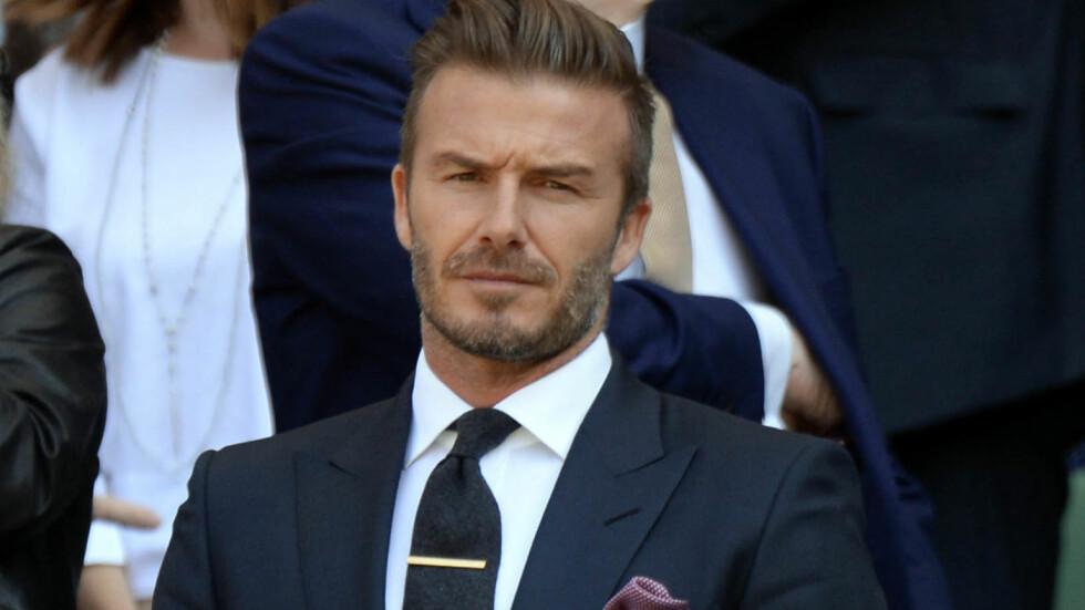 KAN BLI SKUESPILLER: Tidligere har David Beckham dukket opp i flere reklamer, og nå skal kjekkasen tenke på å ta skuespillerkarrieren et steg lenger ved å ta på seg rollen som James Bond. Foto: Zuma Press