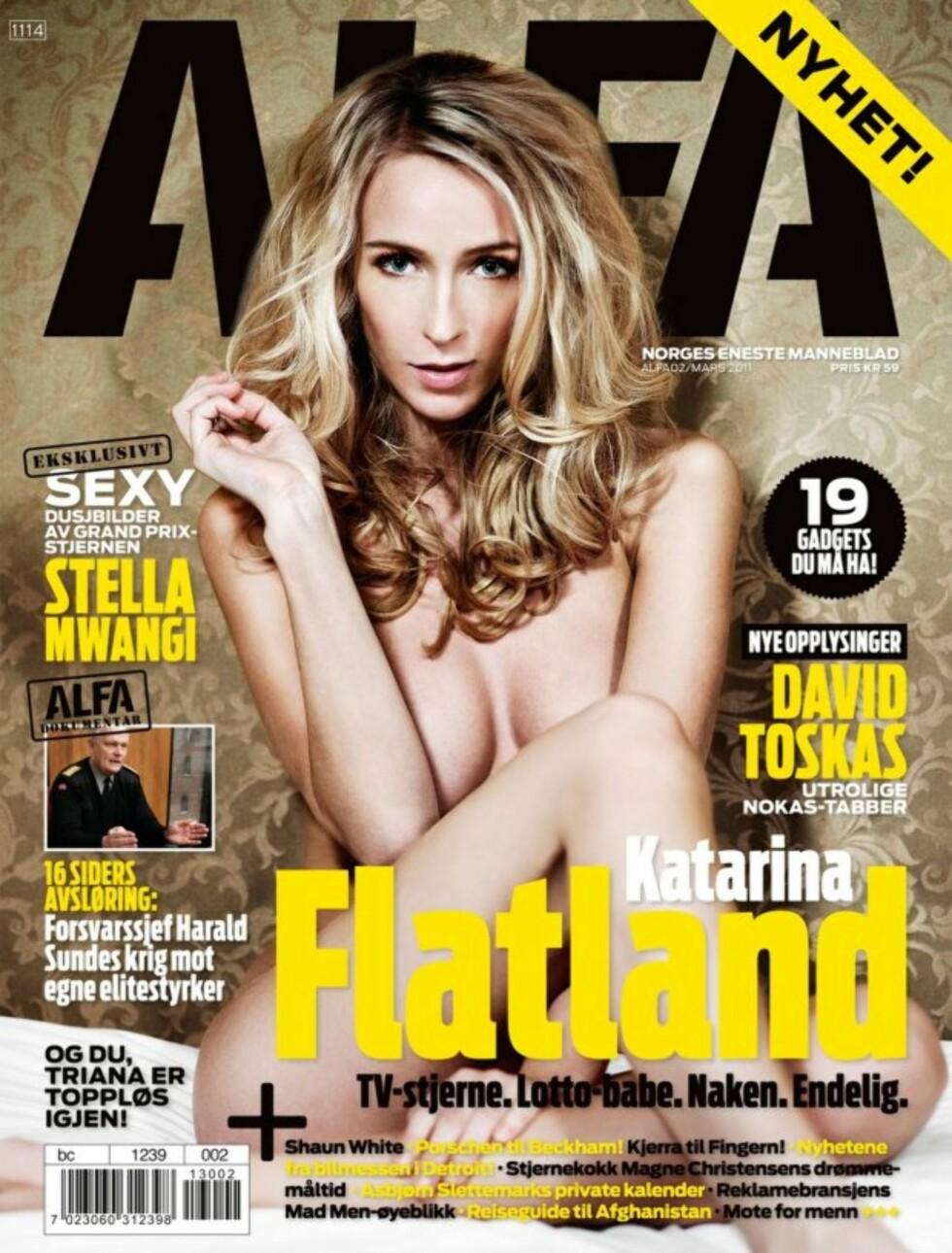 ALFA: Katarina Flatland på forsiden til ALFA i 2011. Foto: Faksimile