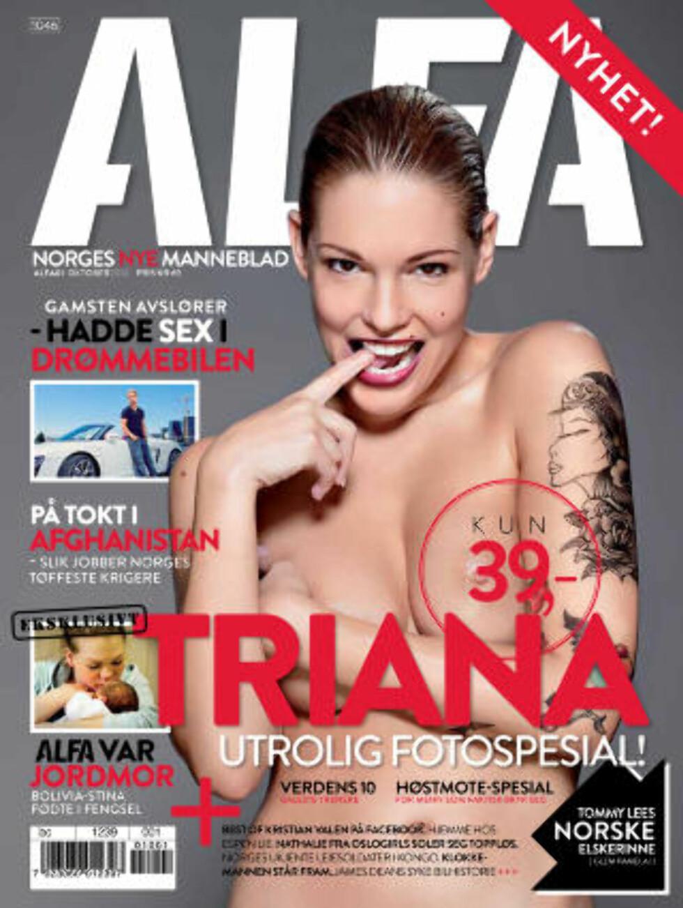 ALFA: Triana Iglesias viste seg fram toppløs for ALFA i 2008.