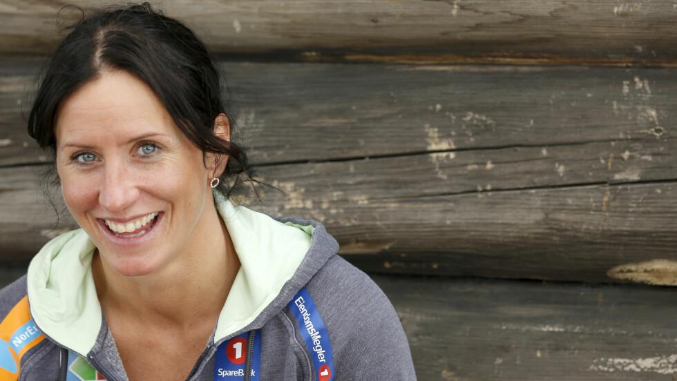 BLIR IKKE STRENG: Marit Bjørgen ønsker å la barnet gå sin egen vei og ønsker ikke å presse barnet sitt i skisporet.  Foto: NTB scanpix