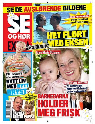 I SALG NÅ: I ukens Se og Hør Extra kan du lese om Lene Alexandras ferieflørt med eksen, Anne Marie Ottersens private bursdagsfest og mye, mye mer.
