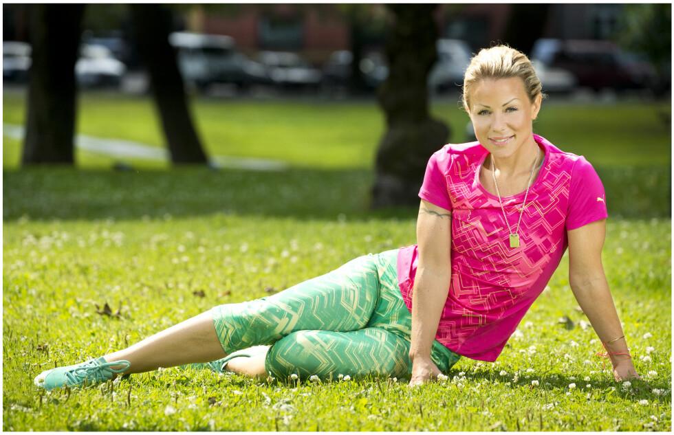 PERSONLIG TRENER: Lene Alexandra er til daglig svært aktiv, og jobber som personlig trener. Foto: Se og Hør