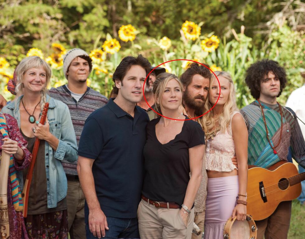 DEN GANG DA: Jennifer Aniston og Justin Theroux spilte mot hverandre i filmen Wanderlust i 2011, og det var her det hele startet. Året etter forlovet de seg, og denne uken skal de to ha giftet seg i deres felles hjem i Los Angeles.