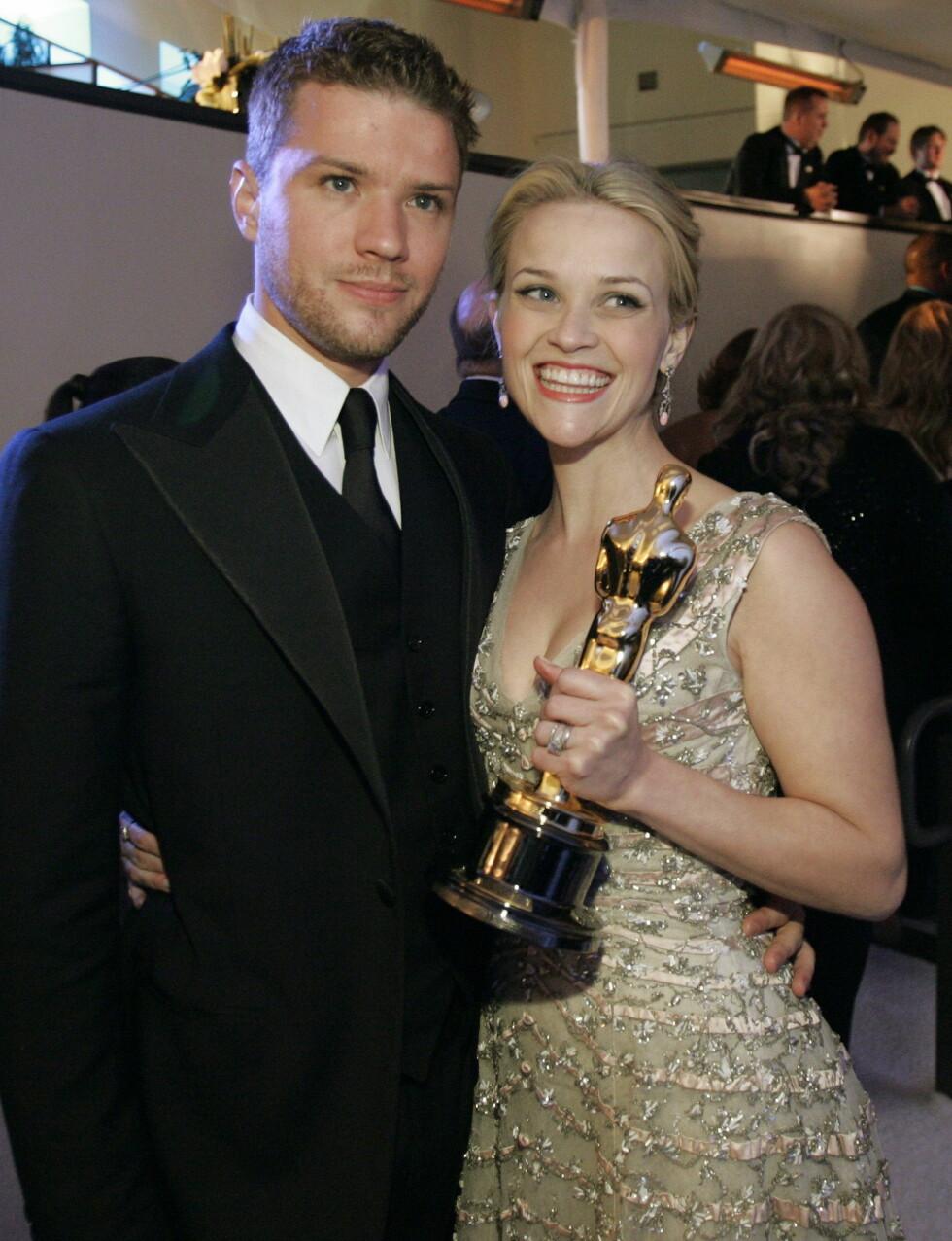"""""""I fire-fem måneder klarte jeg ikke å komme meg ut sengen"""", har Ryan Phillippe sagt om bruddet med Reese Witherspoon. Foto: Scanpix"""