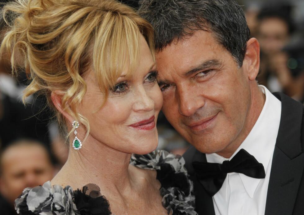 I fjor ble det kjent at Melanie Griffith og Antonio Banderas skulle skille seg etter 18 år som mann og kone. Foto: Scanpix