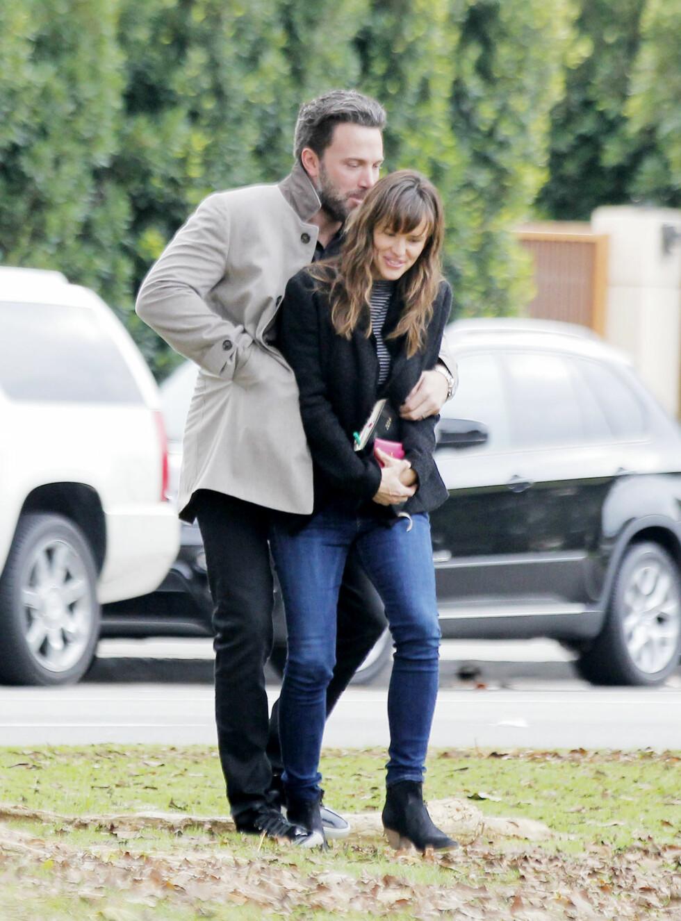 Tidligere denne måneden kom nyheten om at skuespillerparet Ben Affleck og Jennifer Garner skal skilles. Her er de sammen i 2013. Foto: Scanpix