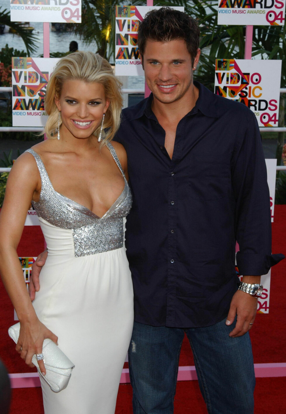 """Jessica Simpson og Nick Lachey hadde sitt eget realityprogram da de var gift, """"Newlyweds"""", men kjærligheten tok slutt i 2006. Foto: Scanpix"""