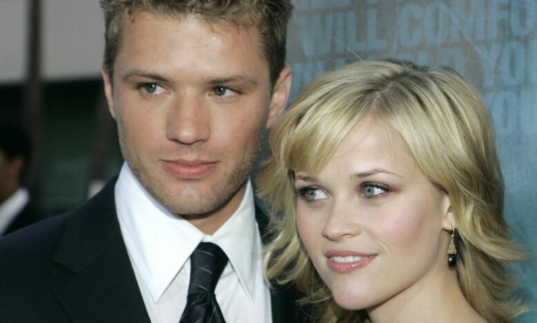 DRØMMEPAR: I en årrekke var Rya Phillippe og Reese Witherspoon et av Hollywoods mest populære par. Her er de avbildet sammen i 2005, et par år før ekteskapet deres tok slutt. Foto: AP/ NTB scanpix