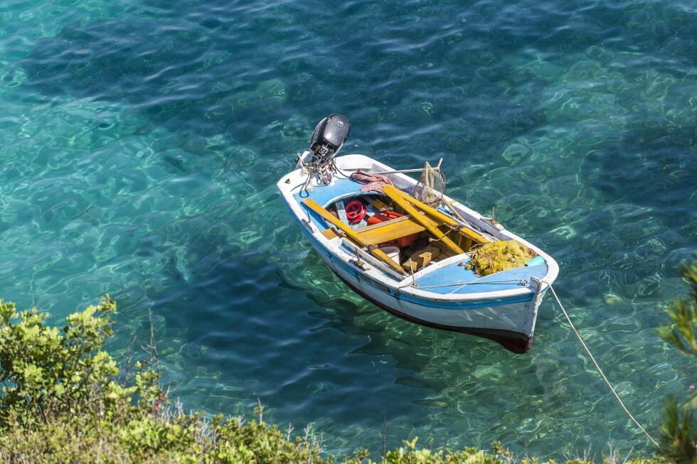 <strong>KLART VANN:</strong> Du vet du er i Hellas eller nærliggende farvann når vannet er som dette. Foto: Star Tour