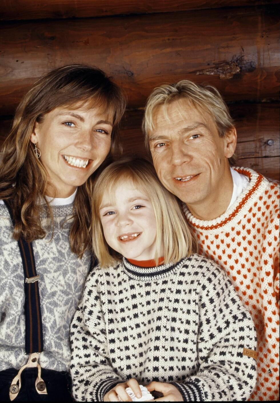 I 1991: Anita og Jahn sammen med datteren Sara, som nå er blitt mamma selv for første gang. Det tidligere stjerneparet er fortsatt gode venner. Foto: Tor Kvello