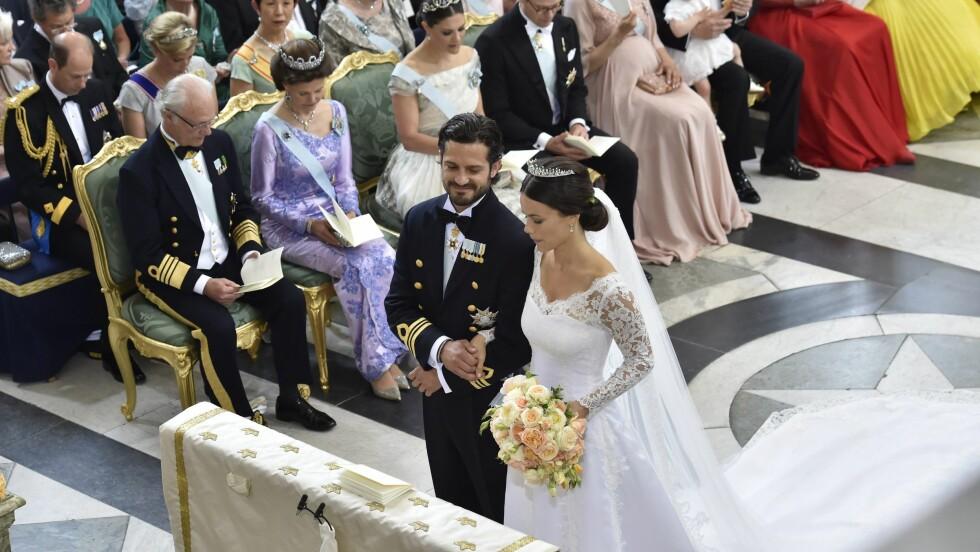 BRUDEPARET: Et tydelig preget kommende ektepar. Foto: NTB Scanpix