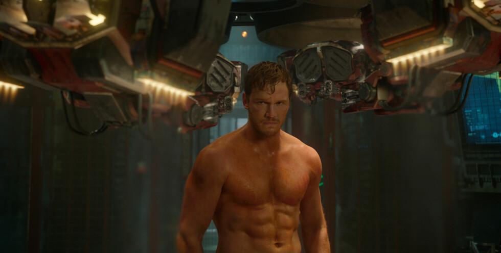 MUSKULØS: Pratt jobbet beinhardt for å komme i form til filmen Guardians Of The Galaxy som hadde premiere i fjor.  Foto: All Over Press