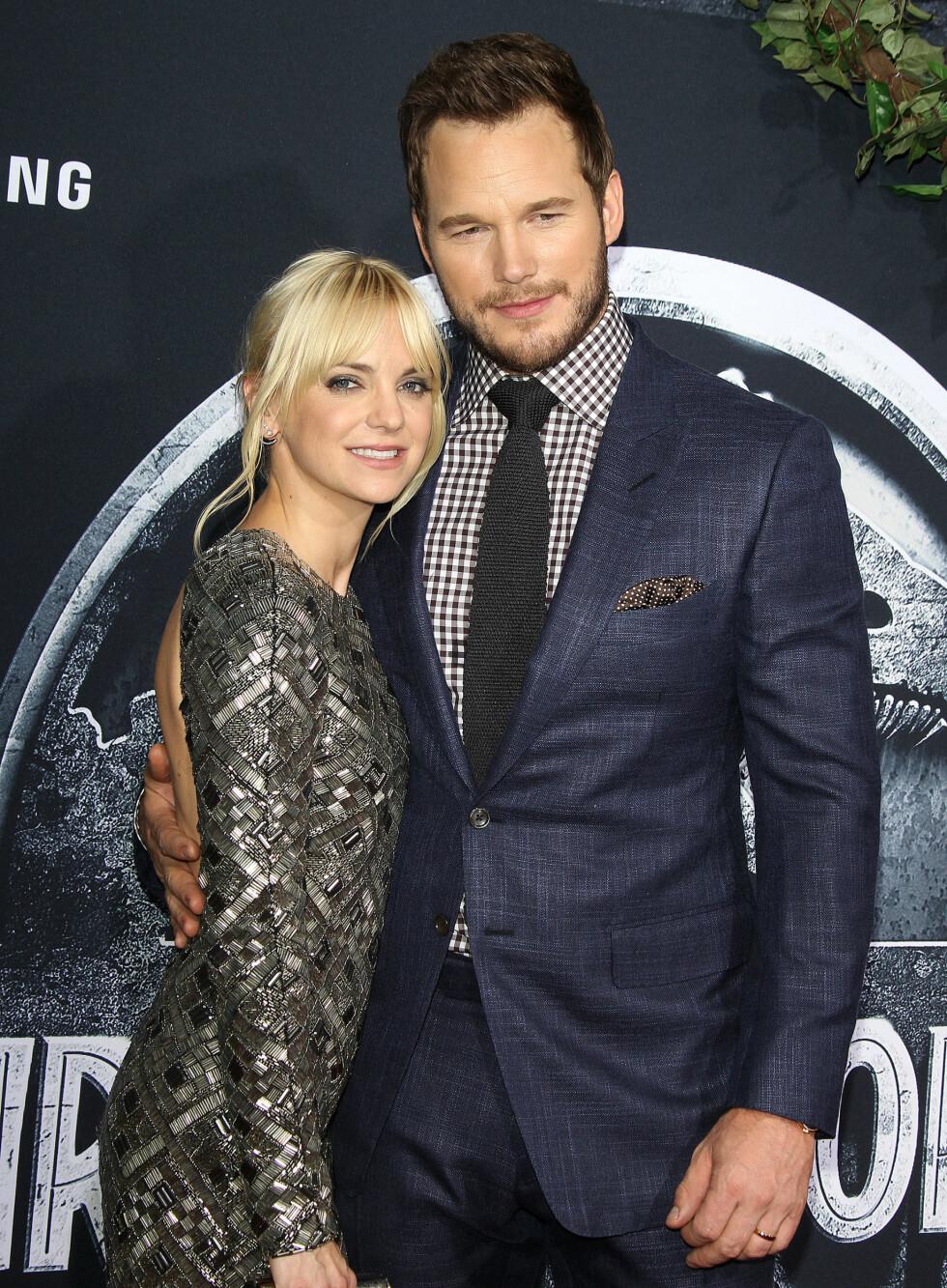 KONA: I seks år har Pratt vært gift med Anna Faris, som blant annet er kjent fra Scary Movie-filmene. Foto: Broadimage