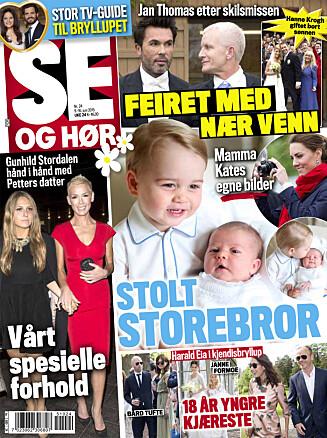 I SALG NÅ: I ukens Se og Hør kan du også lese om helgens prinsebryllup i Sverige, se Kate og Williams søte familiebilder, og mye mer! Foto: Faksimile, Se og Hør