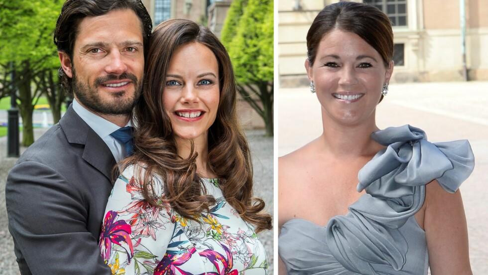 KLARE FOR BRYLLUP: Siden 2010 har prins Carl Philip vært kjæreste med Sofia Hellqvist, og om to uker blir de mann og kone. Tidligere var han i lang tid sammen med Emma Pernald (t.h). Foto: NTBscanpix