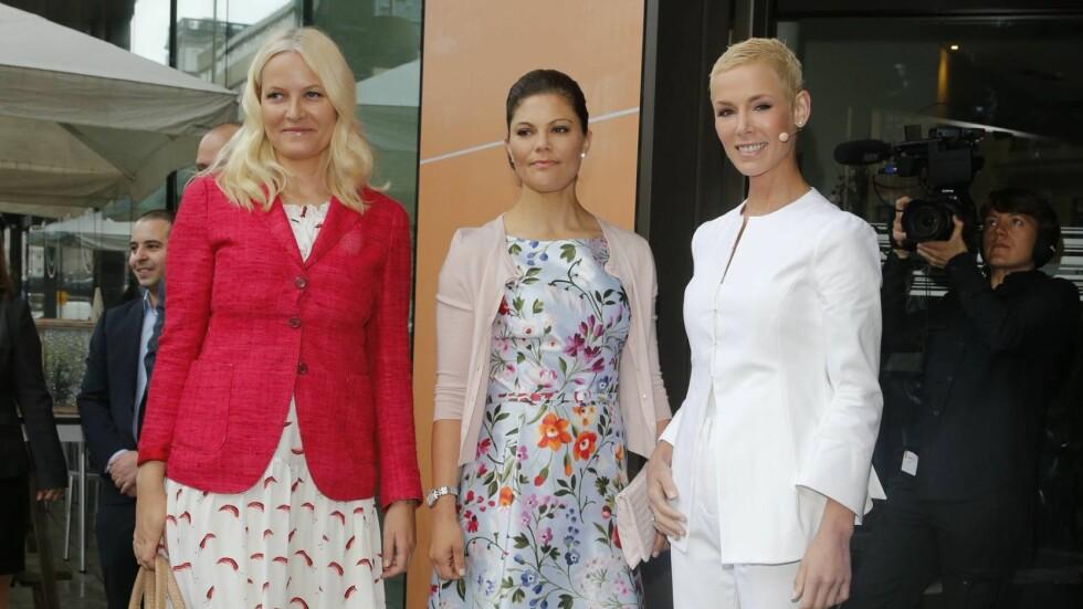 LÆRER KRONPRINSESSENE OM MAT: Kronprinsessene Mette-Marit og Victoria tar del i Gunhild Stordalens EAT-konferanse i Stockholm. Foto: Andreas Fadum, Se og Hør