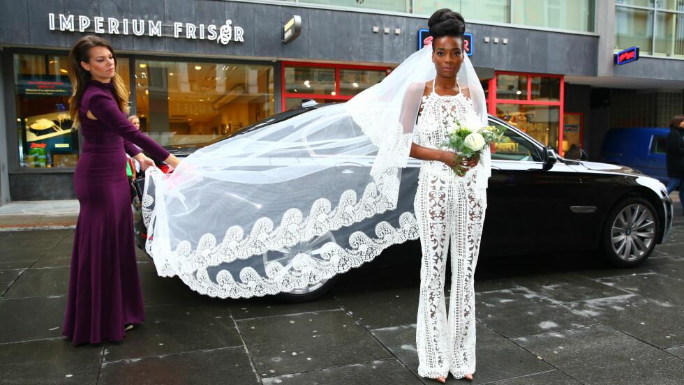 VAKKER: Tinashe kom pusten fra alle i norsk design.  Foto: Espen Solli