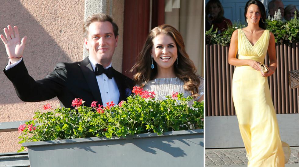 I 2013: Kvelden før sitt storslagne bryllup, feiret Prinsesse Madeleine og Chris O'Neill med en middag for spesielt inviterte på Grand Hôtel i Stockholm. Sofia Hellqvist (t.h), som gifter seg med prins Carl Philip om et par uker, var blant gjestene dengang. Foto: NTB Scanpix