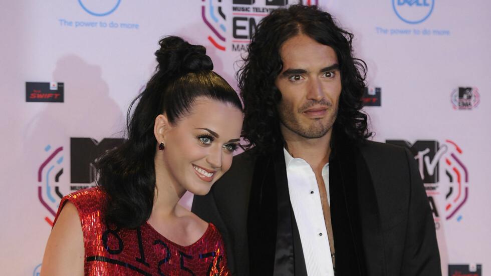 INGEN KONTAKT: Katy Perry og Russel Brand var bare gift i 14 måneder før de skilte lag.  Foto: NTB scanpix