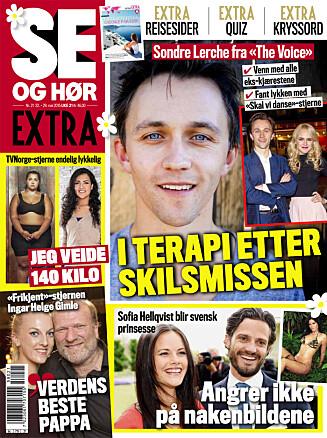 I SALG NÅ: I ukens Se og Hør Extra kan du dessuten lese om Sondre Lerche, gifteklare Sofia Hellqvist og mye mer! Foto: Faksimile, Se og Hør