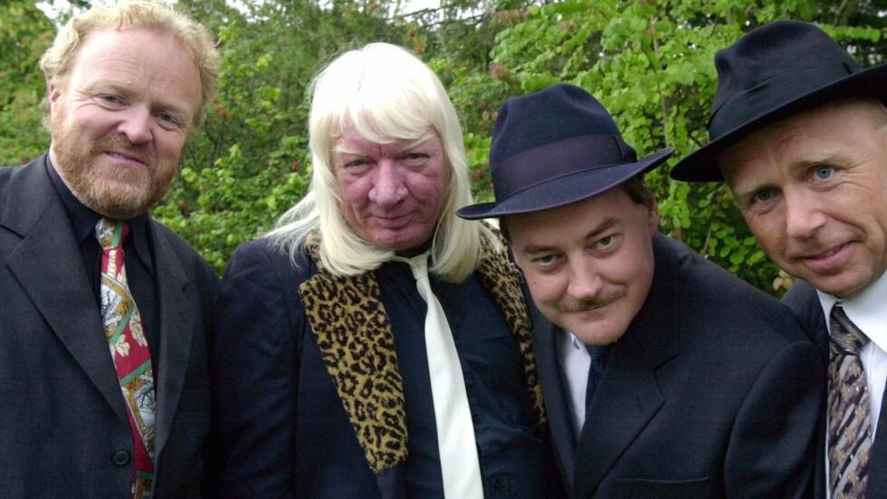 """POPULÆRE: Eldar Vågan (nr. 3 fra venstre) har skrevet seg inn i norsk musikkhistorie med bandet """"Vazelina Bilopphøggers"""". Foto: NTB scanpix"""