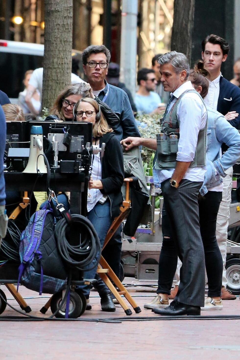 <strong>STJERNESPEKKET:</strong> Både Julia Roberts og George Clooney har prøvd seg med regi. Men i &amp;amp;amp;quot;Money Monster er det Jodie Foster som er sjefen. Foto: Splash News