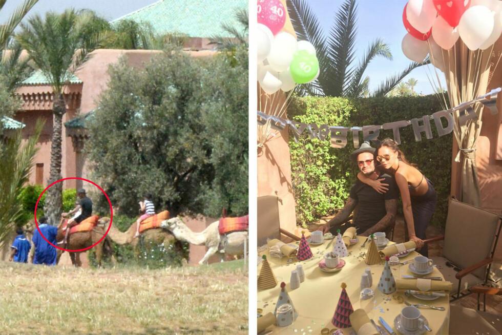 FULL FEIRING I MAROKKO: David Beckham og kona Victoria hadde invitert venner og familie til fest i Marokko, og over 60 gjester feiret den flotte firebarnsfaren. Disse bildene har Beckham selv lagt ut på Instagram - som han opprettet på 40-årsdagen. Foto: NTB Scanpix