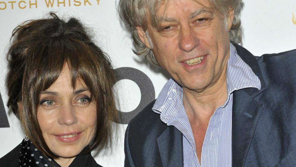 HEMMELIG GIFT: Bob Geldof og hans kjæreste Jeanne Marine skal nå ha blitt mann og kone. Foto: Polaris
