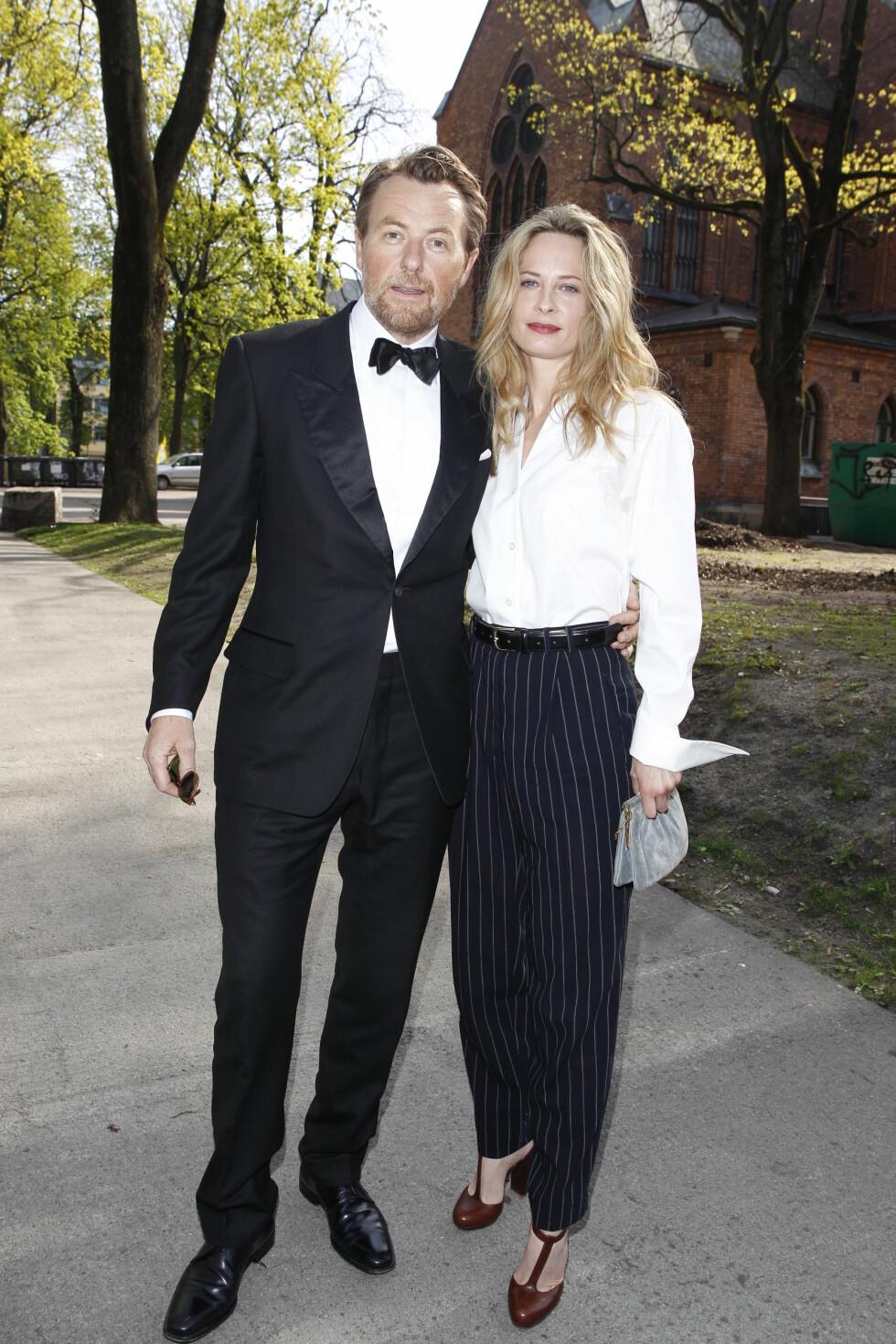 GLEDET SEG: Fredrik Skavlan og Maria Bonnievie så frem til vielsen. Foto: Andreas Fadum, Se og Hør
