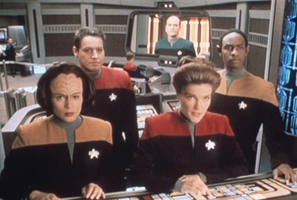 KJENTE FJES: Mulgrew fikk gjennombruddet i TV-serien Star Trek: Voyager hvor hun spilte Captain Kathryn Janeway fra 1995 til 2001.  Foto: Heritage
