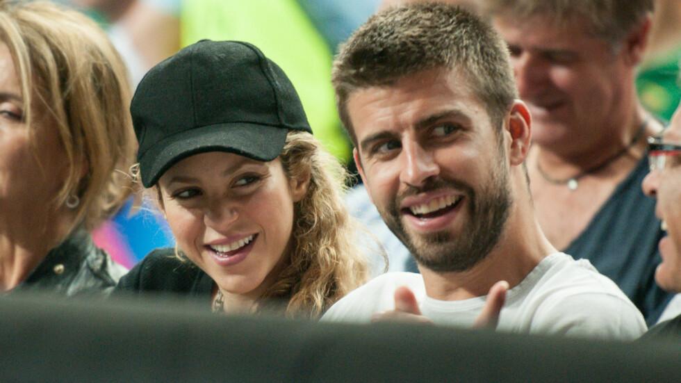LYKKELIG PAR: Shakira legger ikke skjul på at hun er svært forelsket i sin samboer, fotballstjernen Gerard Pique. Foto: wenn.com