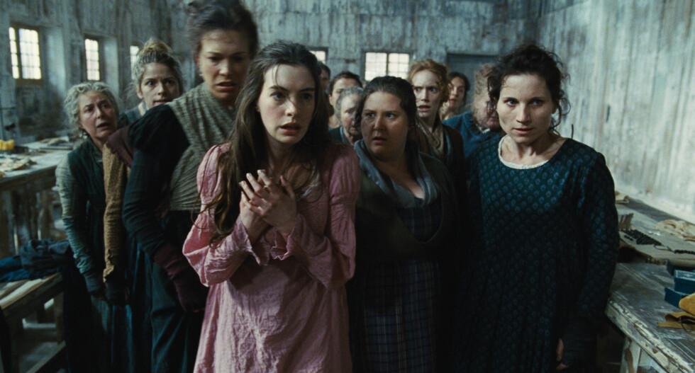 """GOD KRITIKK: Anne Hathaway fikk positive tilbakemeldinger på sin tolkning av karakteren Fantine i filmatiseringen av """"Les Miserables"""". Foto: Scanpix"""