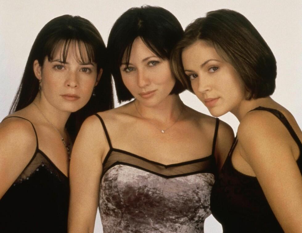 """POPULÆRE: Alyssa er mest kjent for sin rolle som Pheobe i TV-serien """"Charmed"""". Her er hun sammen med kollegaene Holly Marie Combs og Shannen Doherty. Foto: Scanpix"""