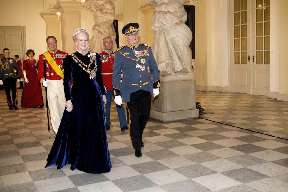 HURRA: Dronning Margrethe fyller 75 år, og feirer med brask og bram flere dager til ende.  Foto: Scanpix Denmark
