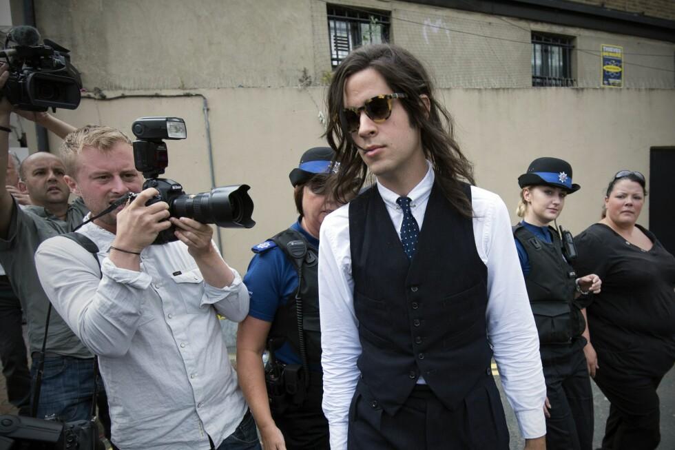 TØFT: Thomas Cohen ble alenefar til to små gutter, da kona Peaches Geldof i fjor omkom av en overdose.  Foto: NTB Scanpix