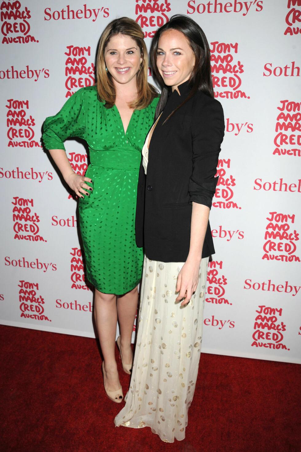 ULIKE: Søstrene Jenna (f.v) og Barbara Bush på et event i New York.  Foto: Johns PKI / Splash News/ All Over Press